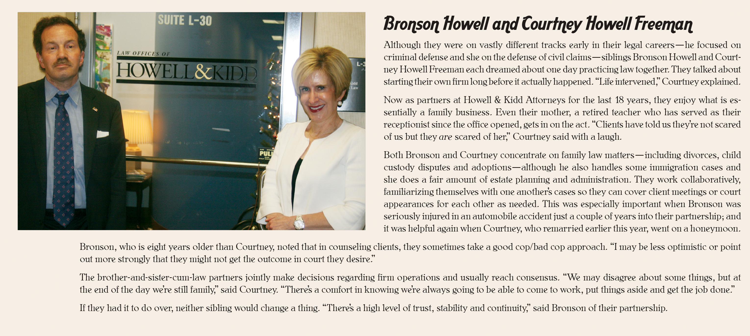 LBA article on Howell & Freeman Attorneys
